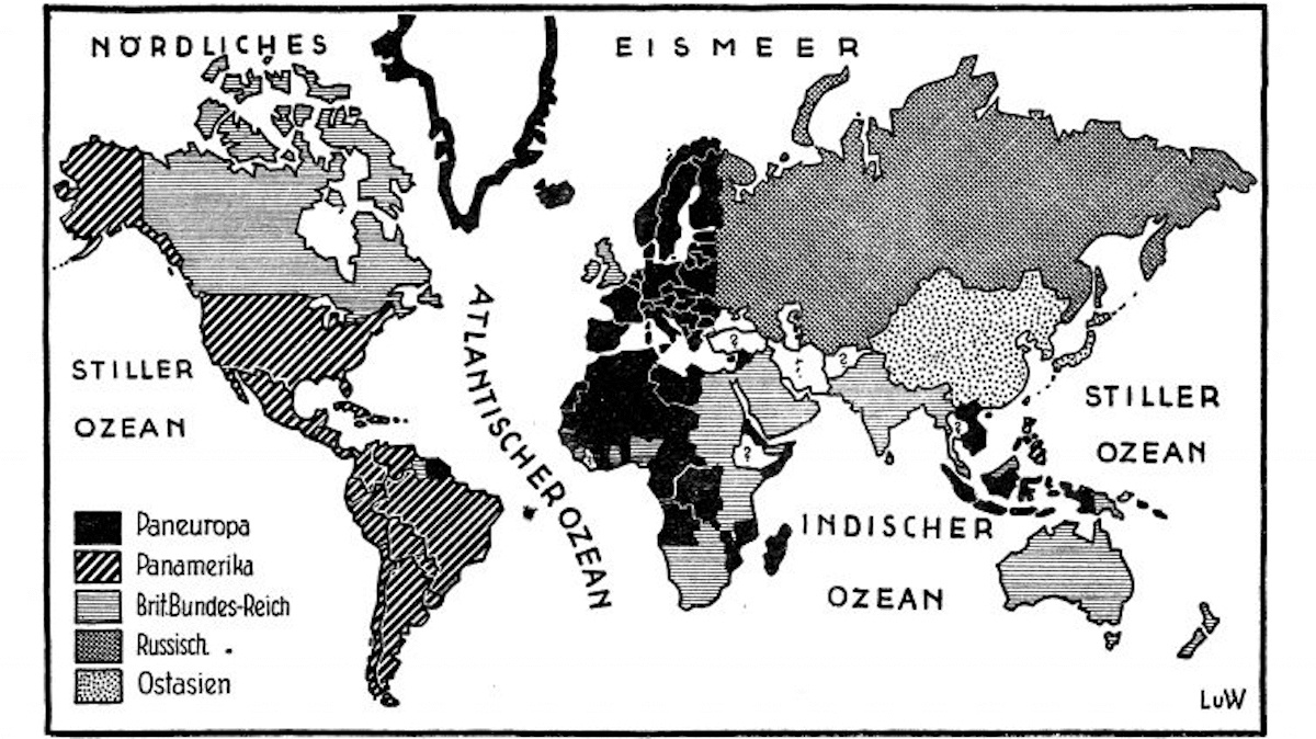 The utopian 1920s scheme for five global superstates