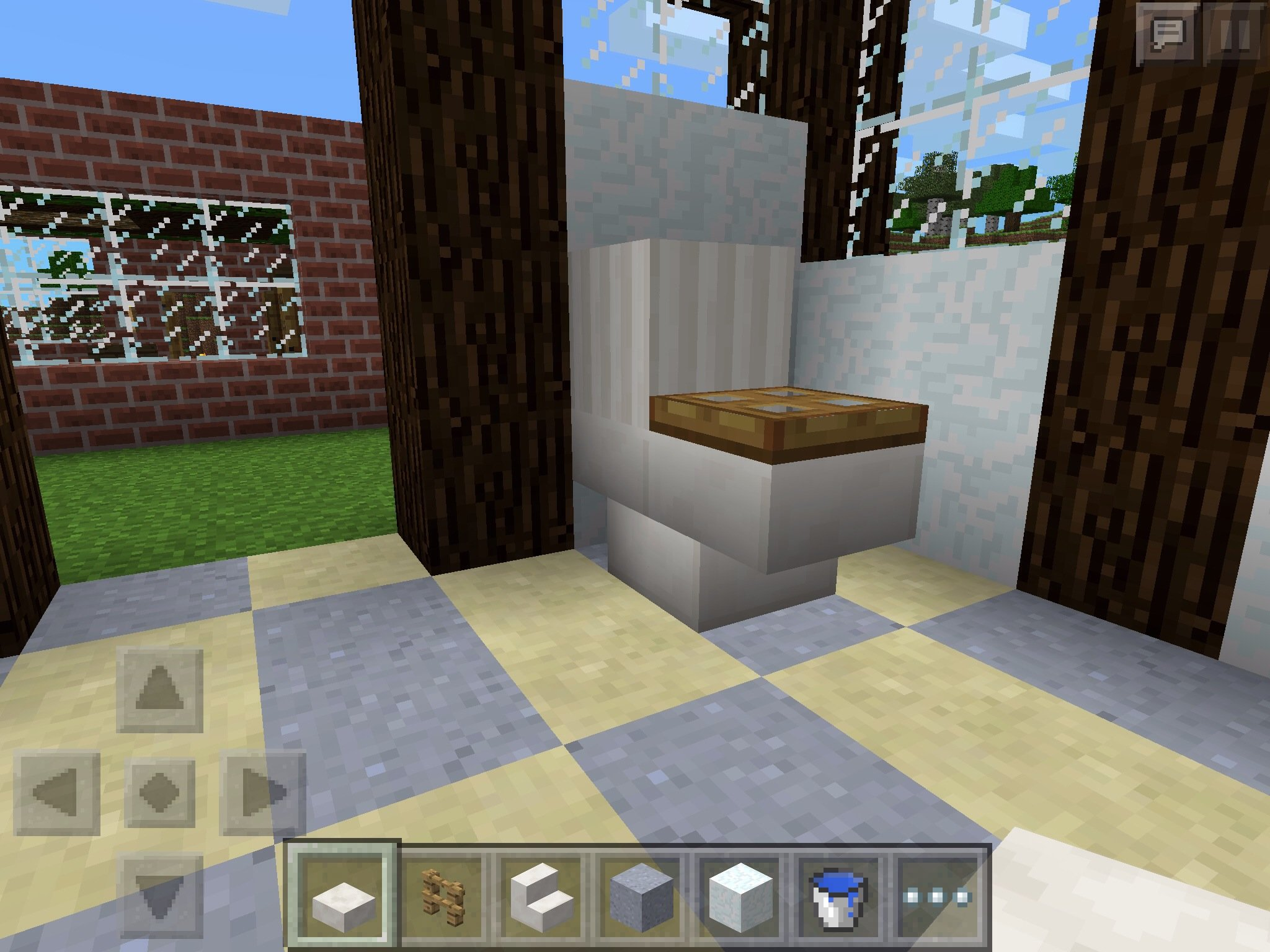 How To Build A Bathroom In Minecraft Pe Edition B C Guides
