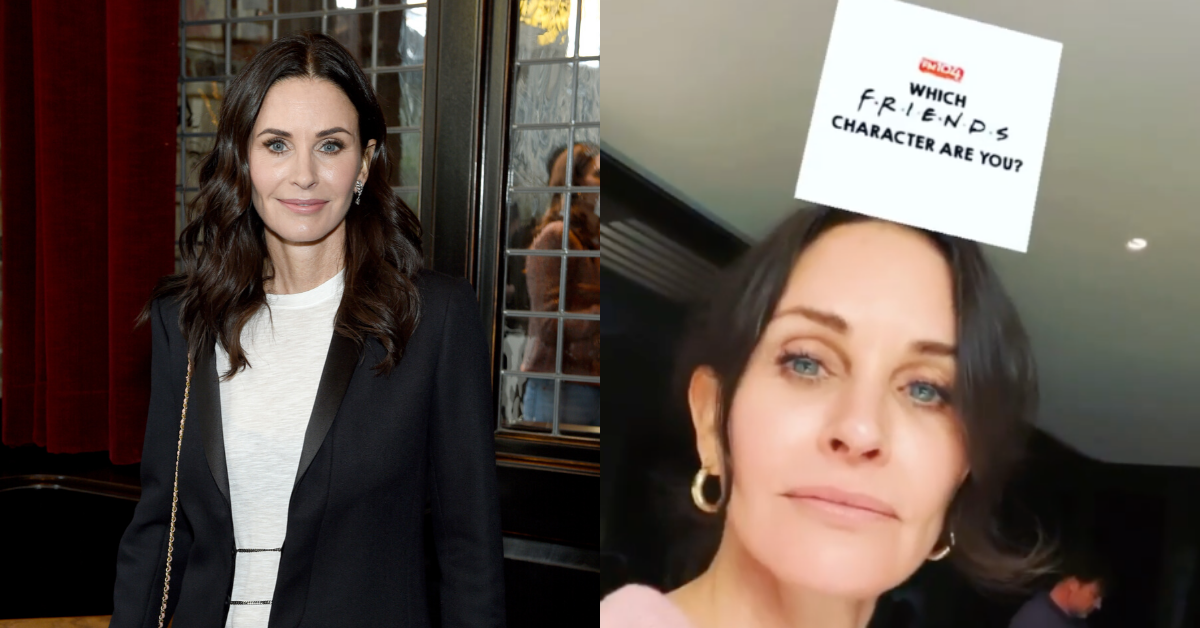 Courteney Cox's Attempt At Using The 'Which Friends Character Are You?' Filter Goes Hilariously Awry, And It's Perfect