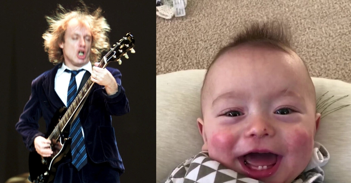 Dad Records His Baby Son's Sounds Every Day For A Year To Create Epic Montage Video Of Him 'Singing' AC/DC's 'Thunderstruck'