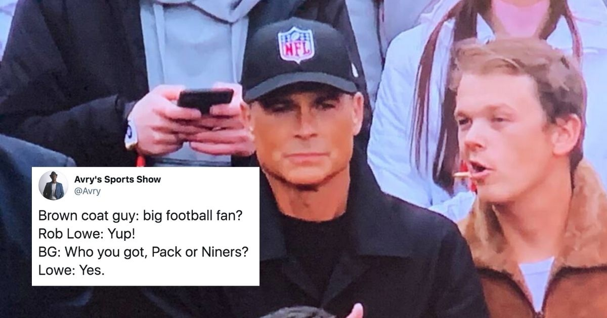 Rob Lowe Threw Some Major Shade After Getting Roasted For Wearing A Generic 'NFL' Hat To The Playoffs
