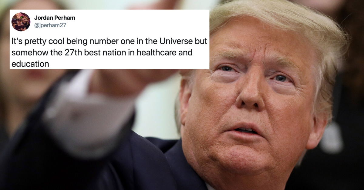 Trump Is Getting Roasted After Bragging That America Is 'Now Number One In The Universe'