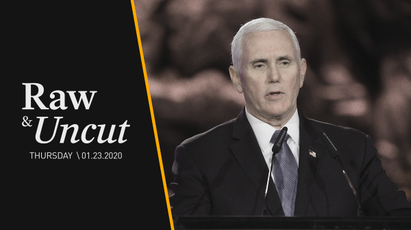 """Vice President Mike Pence says the world must stand against the """"Islamic Republic of Iran"""" while at the Fifth World Holocaust Forum"""