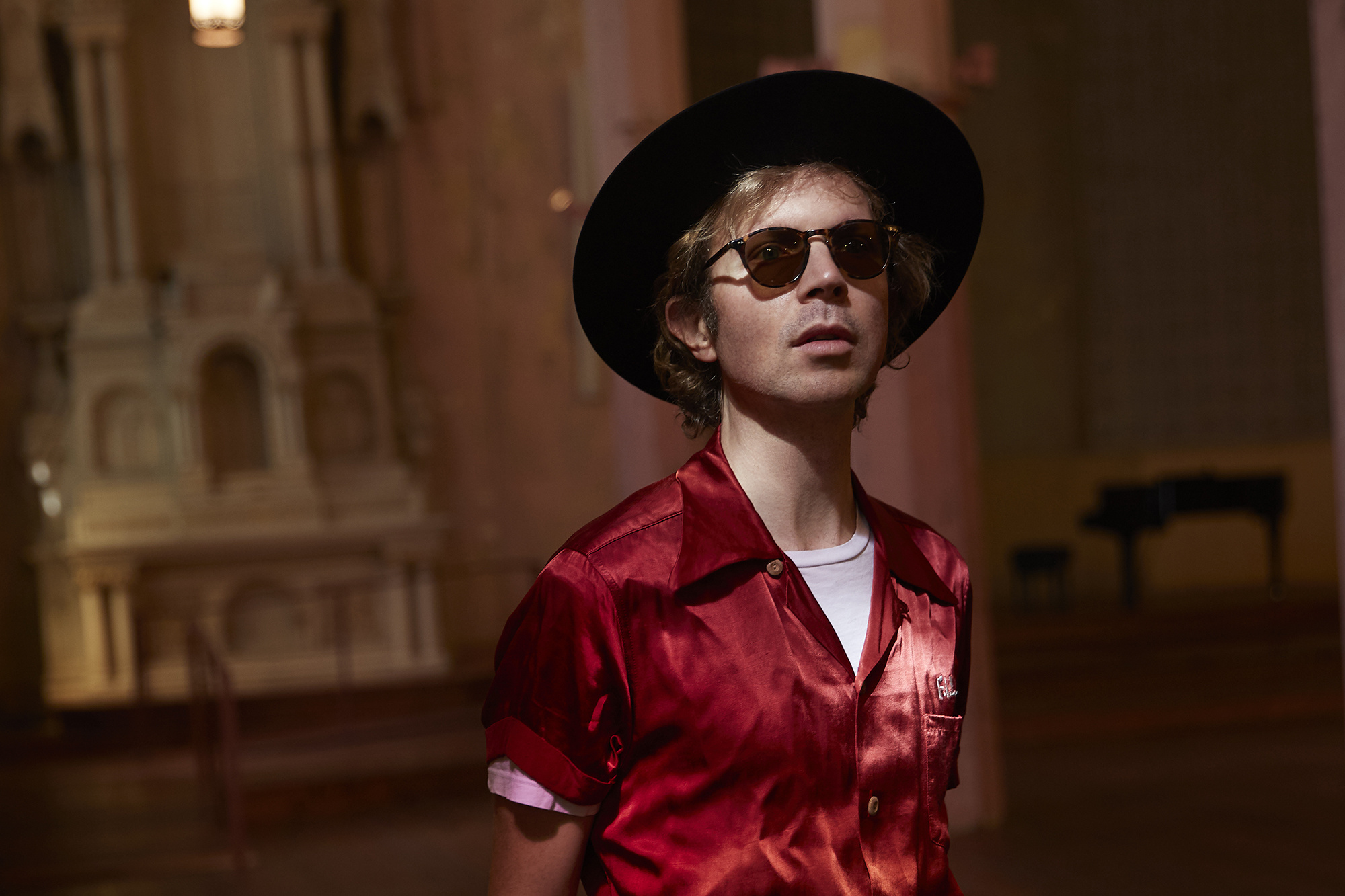 Beck + Pharrell = Mushy Synth Songs? Huh.