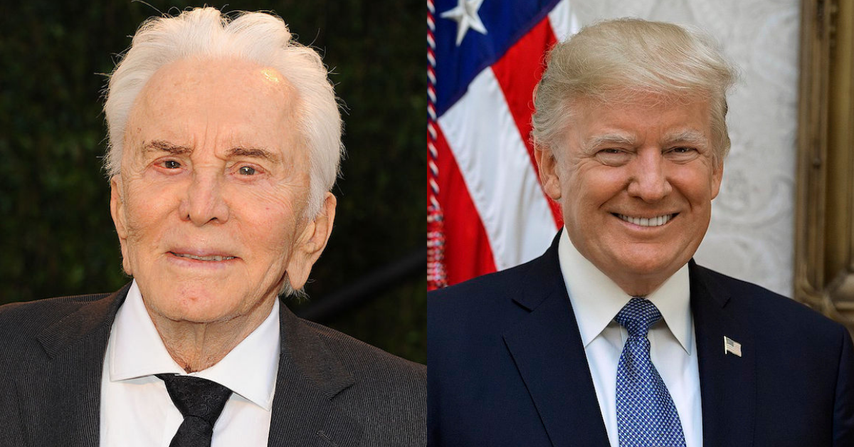Open Letter From Kirk Douglas To Donald Trump During The 2016 Election Feels Very Appropriate Right Now