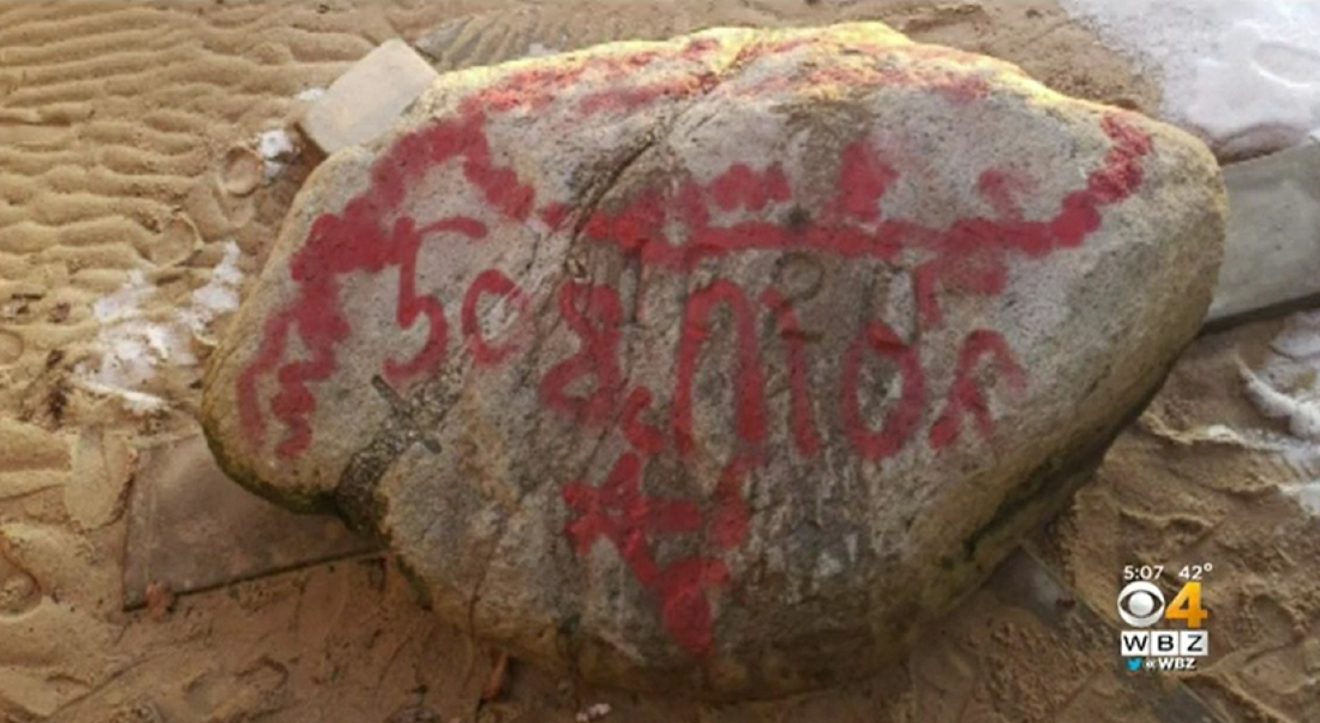 Plymouth Rock vandalized with red spray paint ahead of 400th anniversary celebration