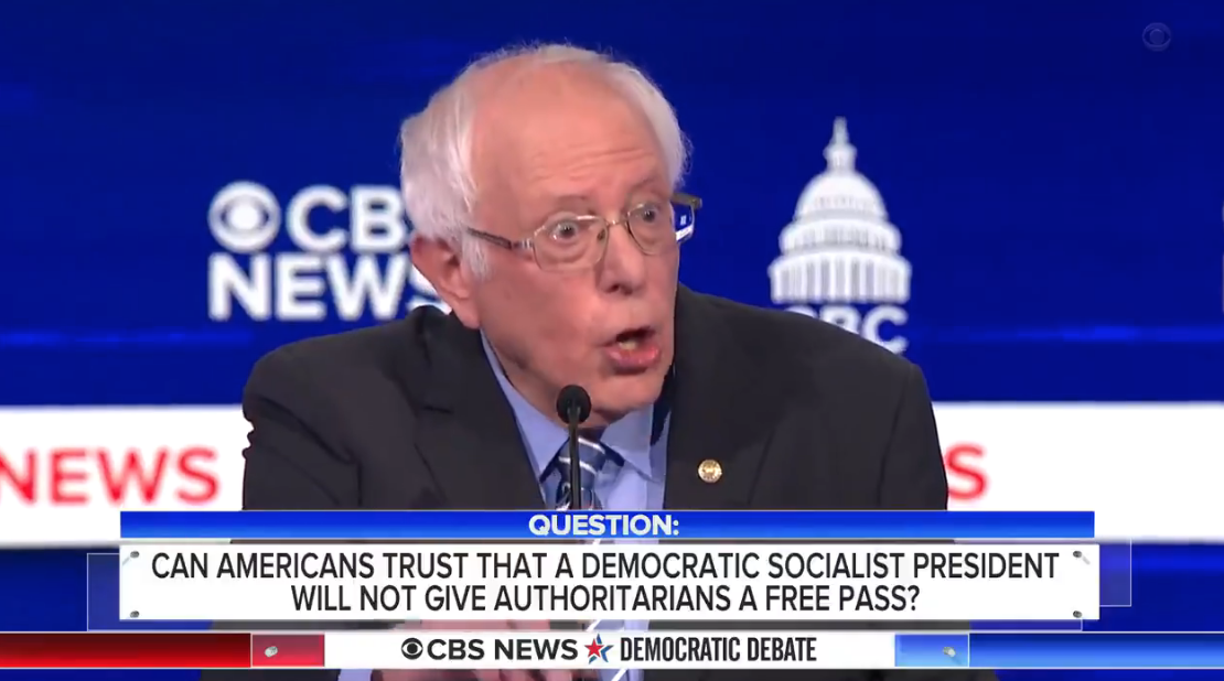 VIDEO: Bernie was given two more chances to denounce Castro's Cuba during and after Tuesday's debate — instead he gushed over it again