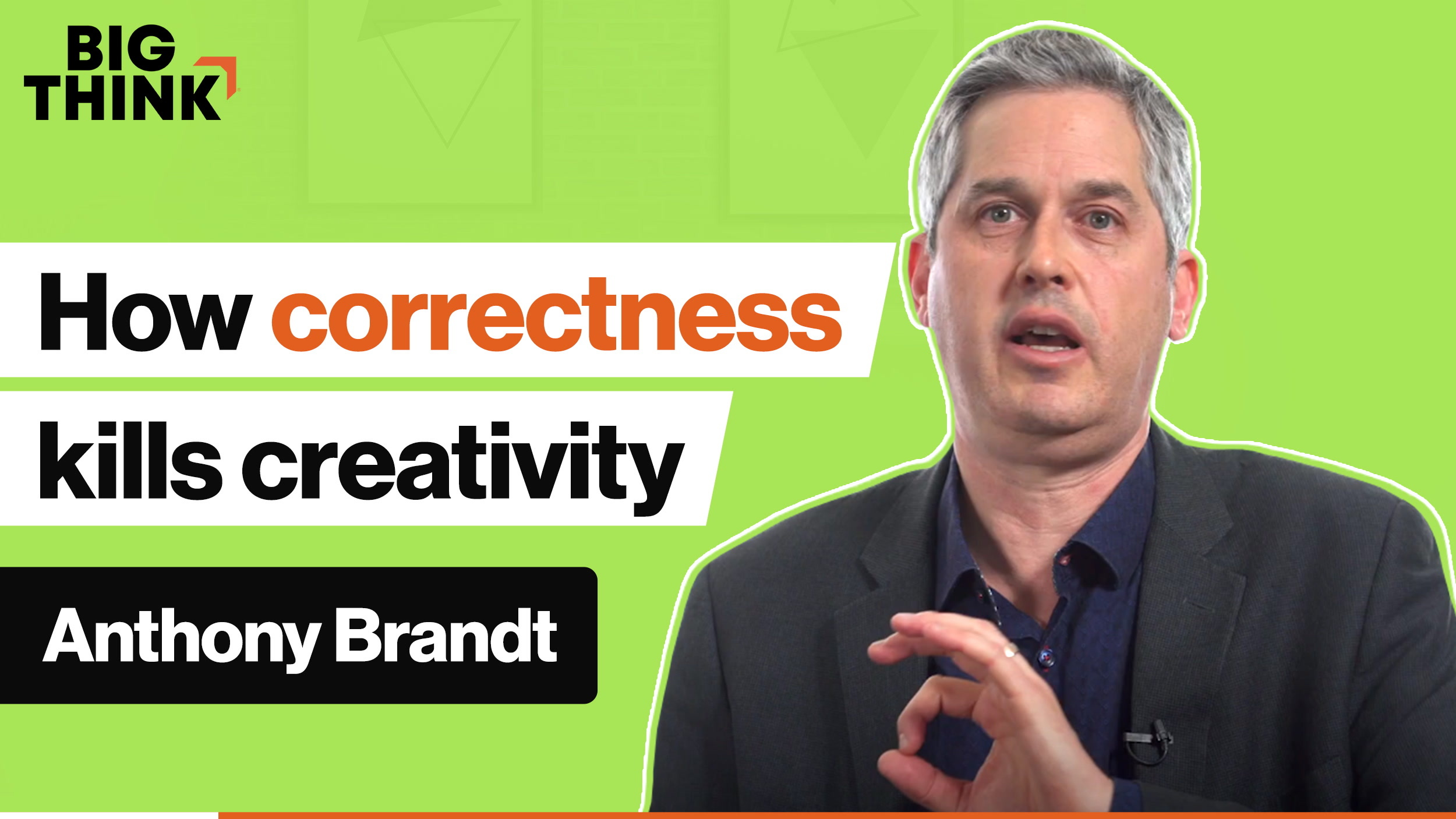 Correctness makes you less creative. Here's why.