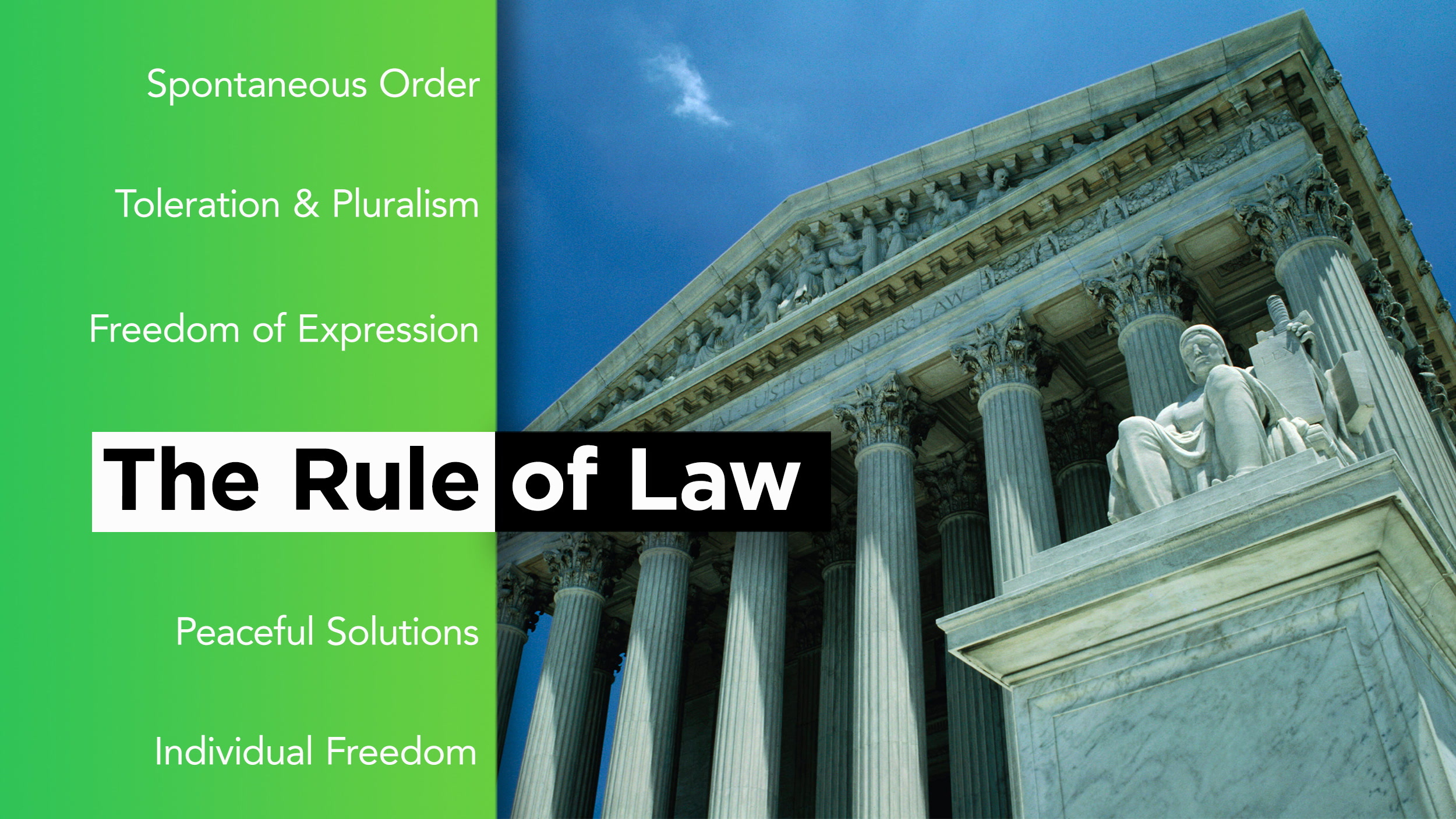 How does the rule of law promote a free society?