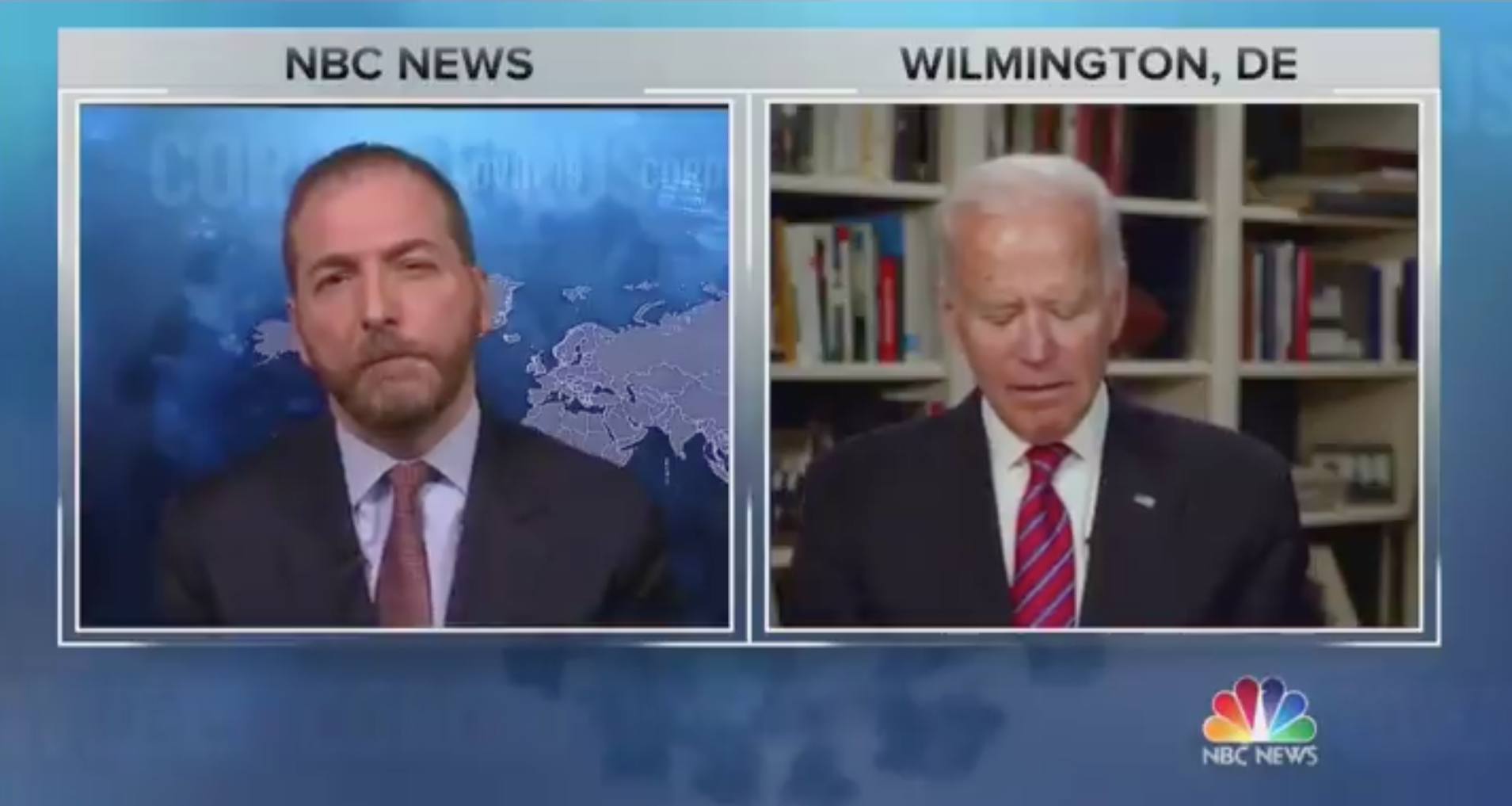 NBC's Chuck Todd asks if President Trump has 'blood on his hands' and not even Joe Biden agrees with him
