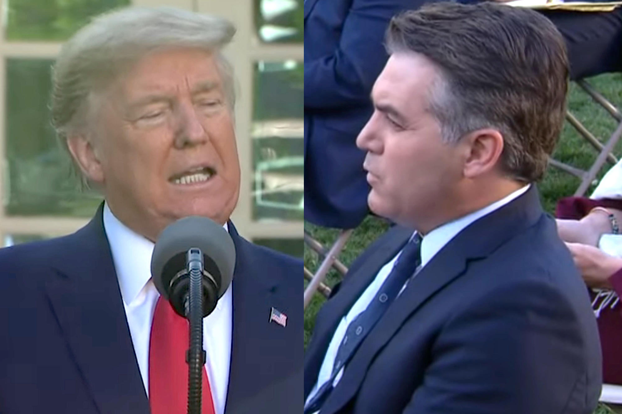 President Trump berates Jim Acosta at coronavirus briefing over 'nasty snarky' question