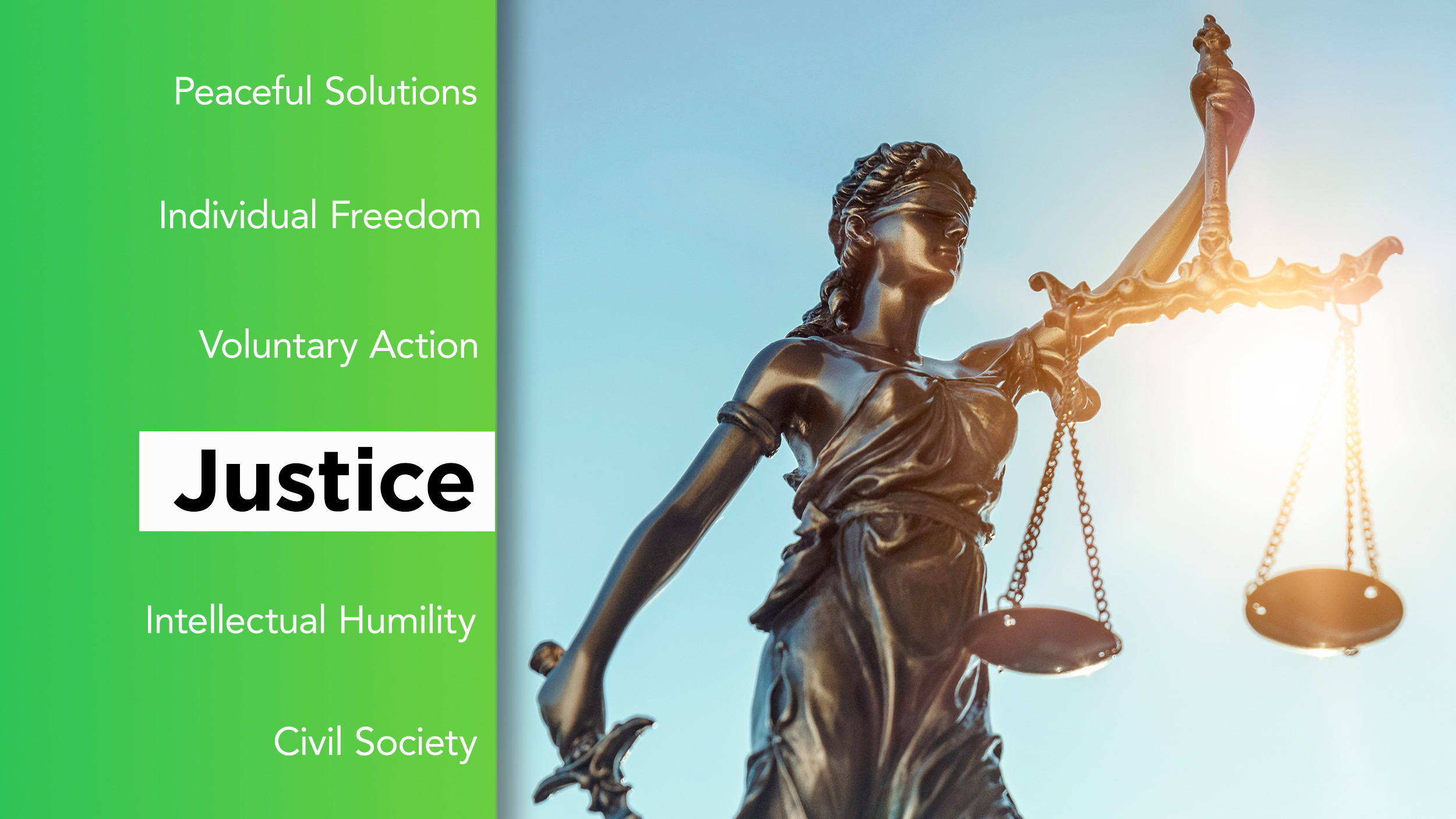 What elements make up our idea of justice?