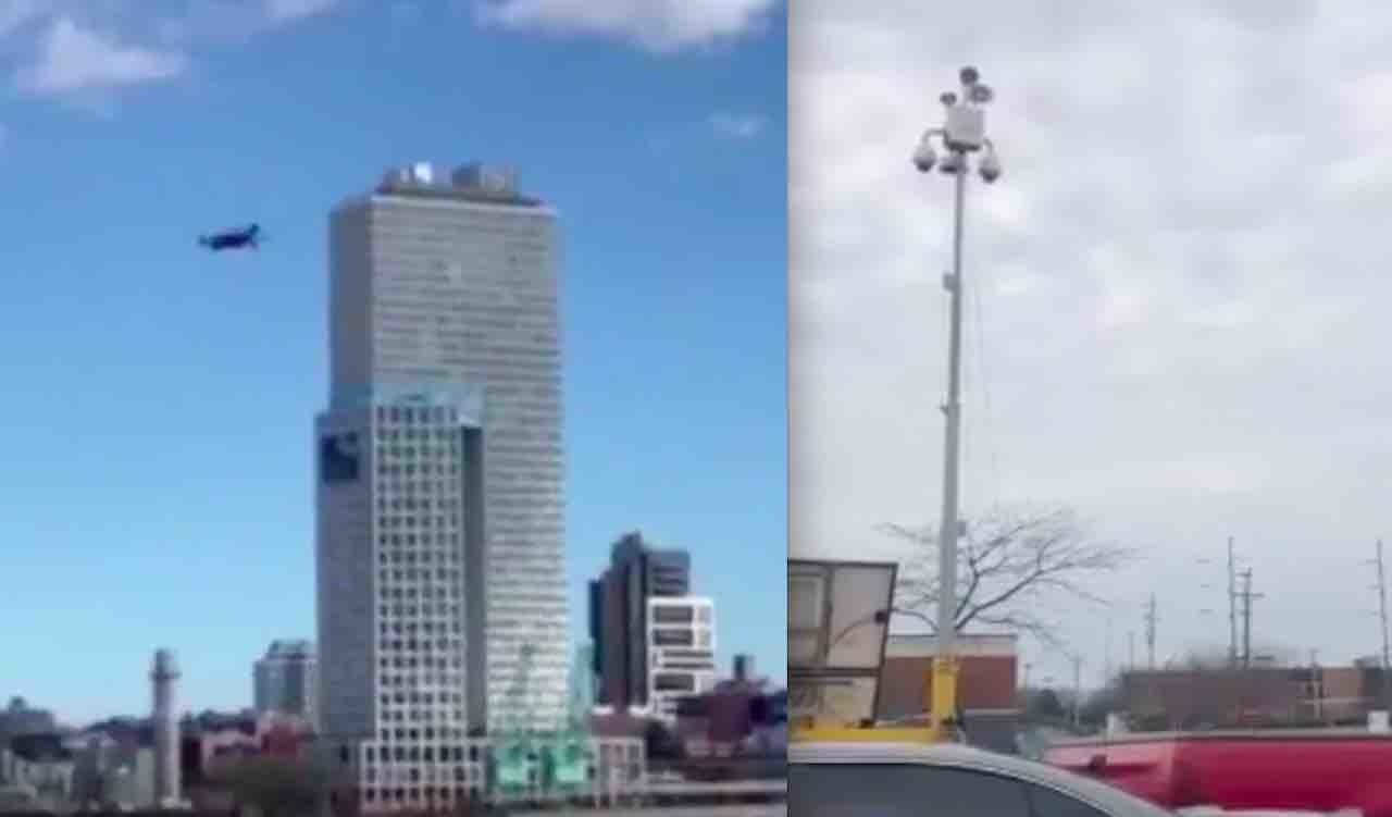 'Very George Orwell of them': Drone, parking lot loudspeakers urge people to socially distance — and folks are getting creeped out