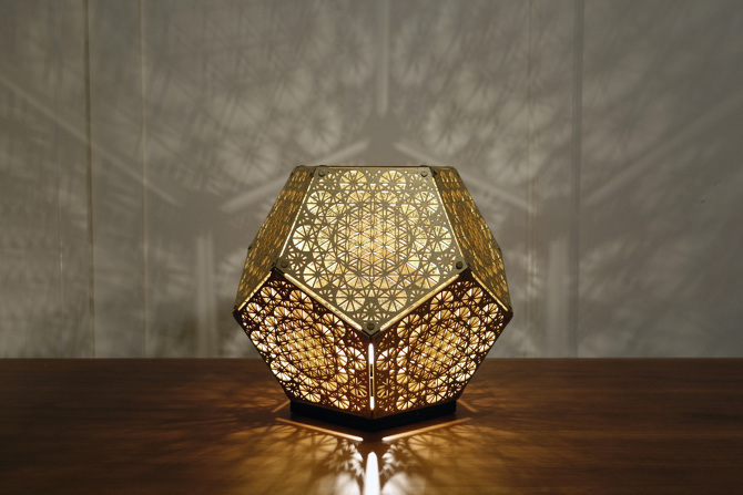 25 sacred geometry inspired lanterns and lights that will for Dodecahedron light fixture