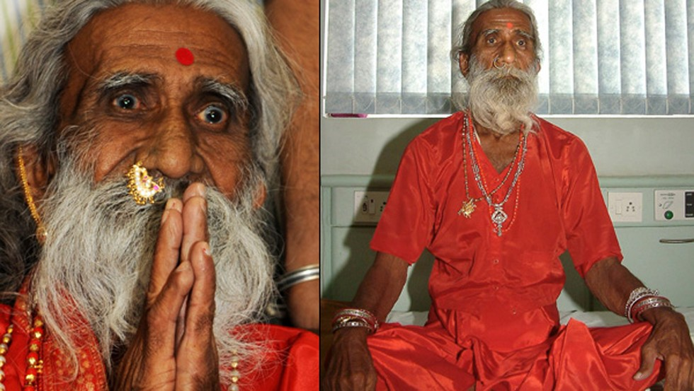 Image result for This Holy Man hasn't eaten in over 75 years and it's been confirmed by Doctors