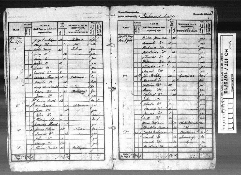 1841 England, Wales & Scotland Census Image