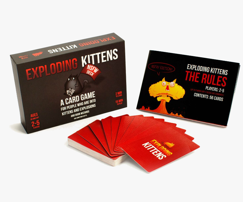 Exploding Kittens: NSFW Edition -- toys for dads