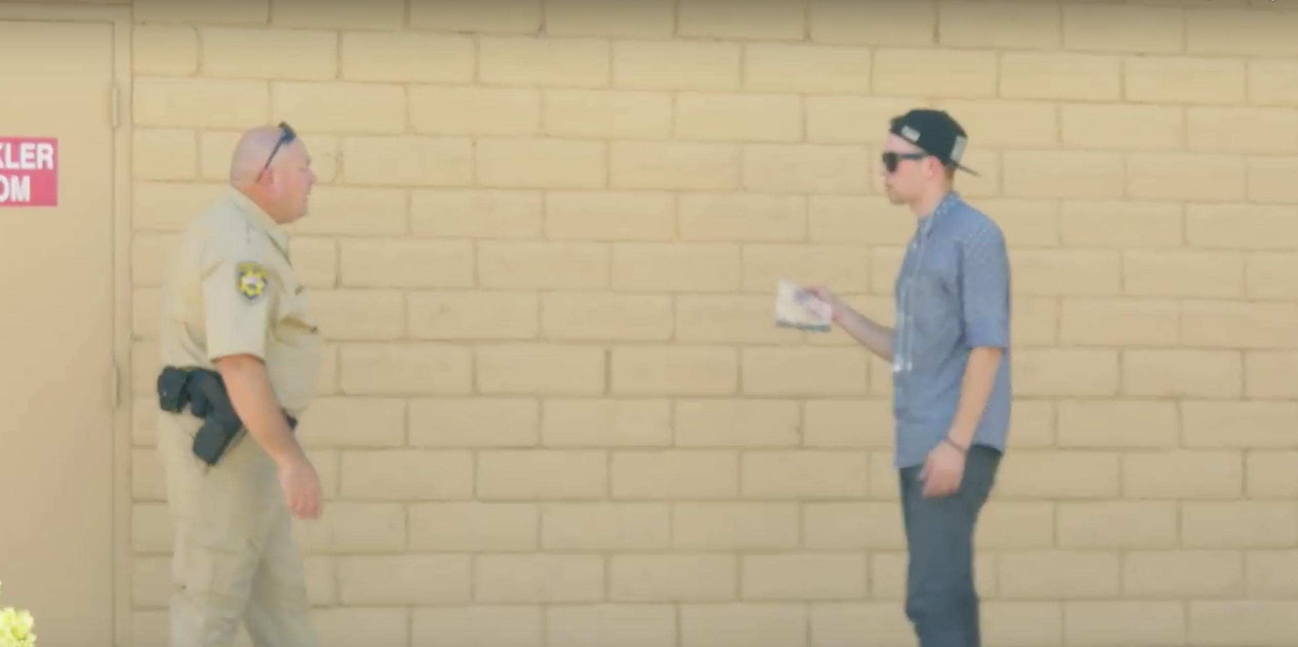 Watch: Magician Tries To Sell Weed To A Cop