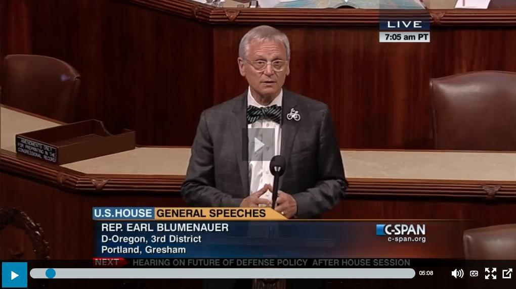 Congressman Blumenauer Just Dropped Serious Marijuana Knowledge On The U.S. House Floor