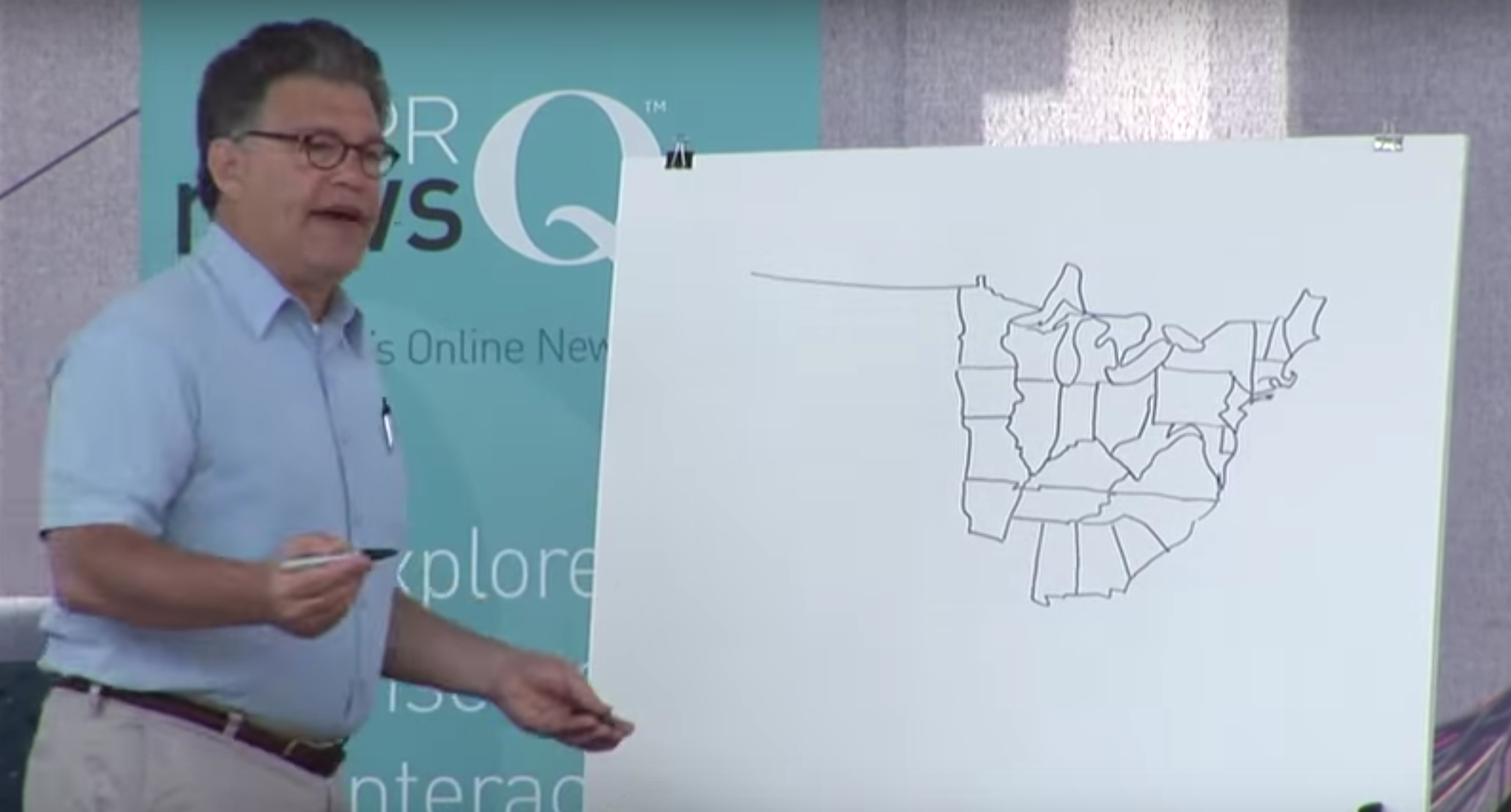 Al Franken Map Of Us Al Franken flashback: Watch the Minnesota senator freehand draw