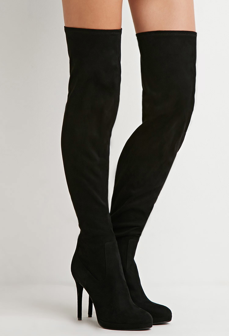 Skin Tight Over The Knee Boots - Boot Hto