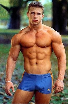 Young retro nudist