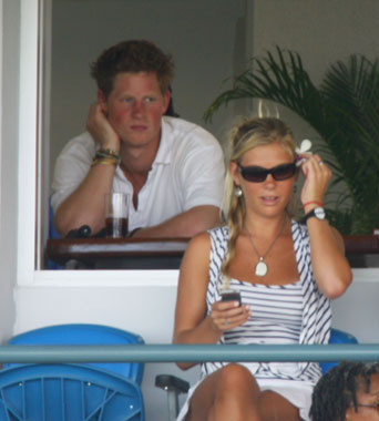 prince harry and chelsy davy in barbados paper