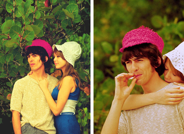 George Harrison And Pattie Boyd In The Bahamas During Shooting Of Help Photo By Curt Gunther LFI