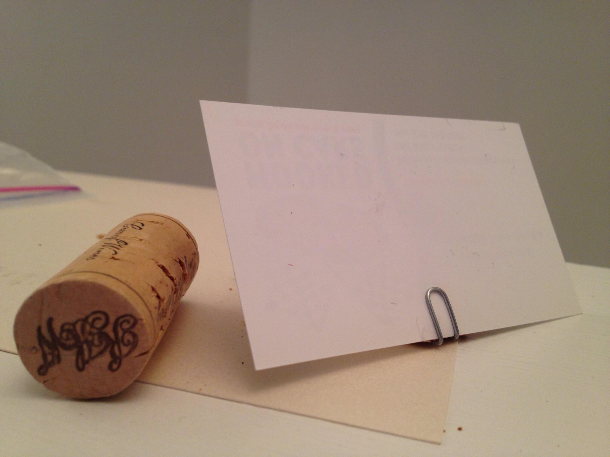 How To Make A Wine Cork Place Card Holder B C Guides