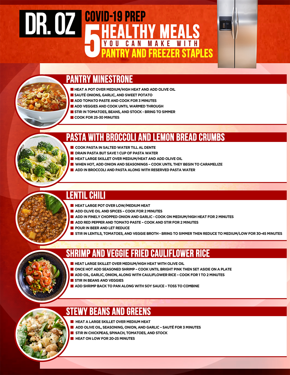 10 Healthy Meals To Freeze Enjoy Later The Dr Oz Show