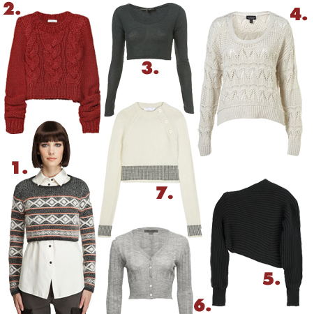 PAPERMAG's Loving Fall's Short, Cropped Sweaters - PAPERMAG