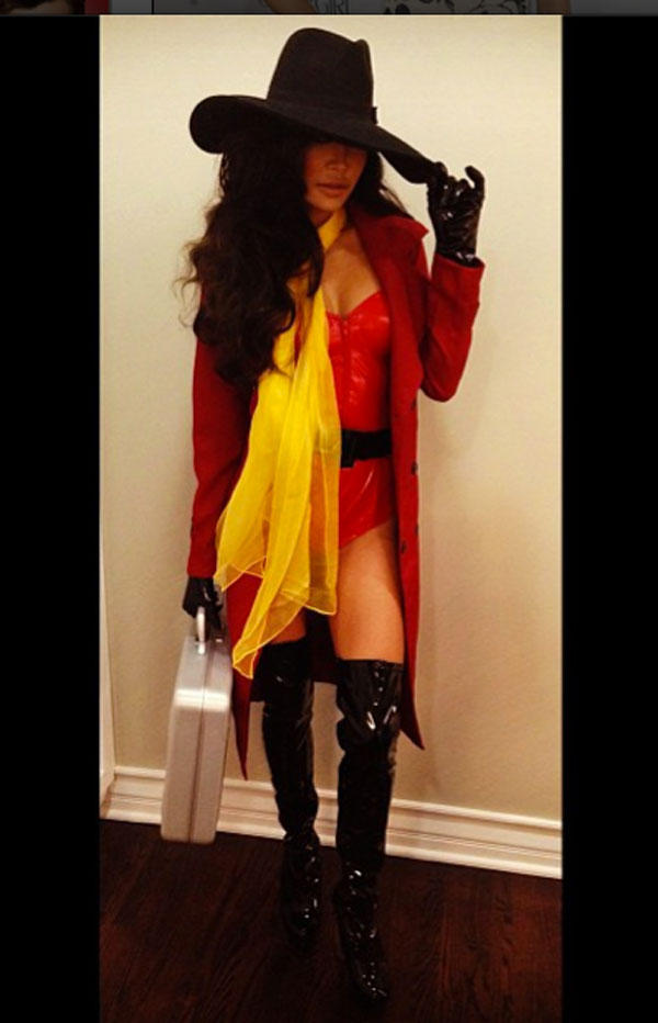 Naya Rivera as Carmen Sandiego. & We Rate 30 Celebrity Halloween Costumes - PAPER