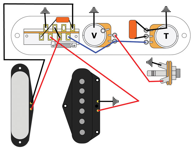 Bill Lawrence 5 Way Telecaster Circuit