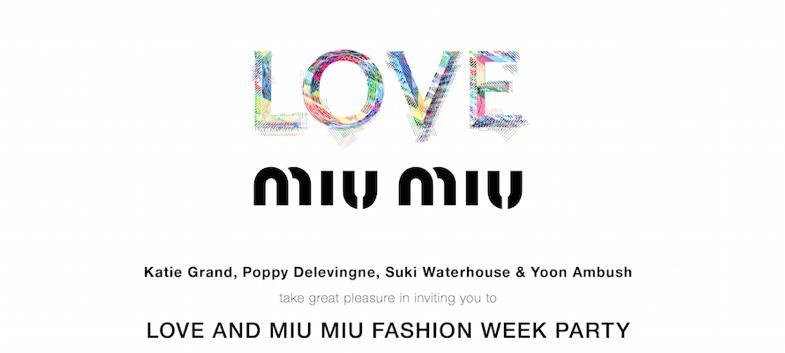WHAT Love And Miu Fashion Week Party EXPECT Join Katie Grand Poppy Delevingne Suki Waterhouse Yoon Ambush As They Host Toyko Dreams