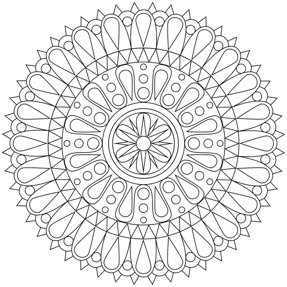 These printable mandala and abstract coloring pages for Printable mandala coloring pages for adults