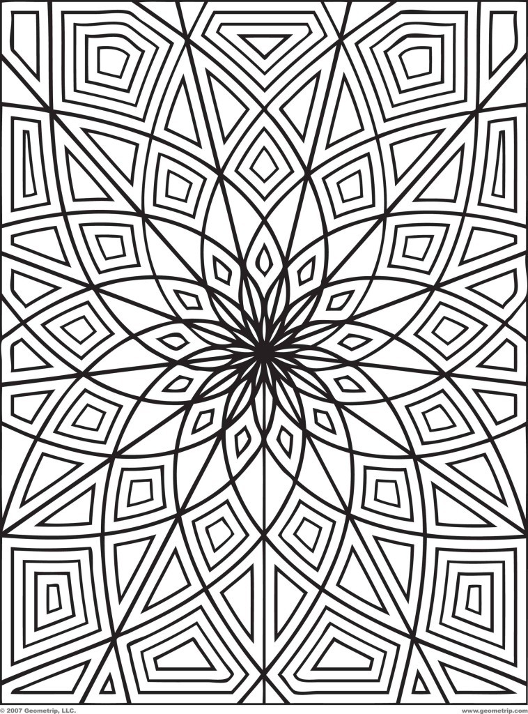 these printable mandala and abstract coloring pages relieve stress and help you meditate - Printing Coloring Books