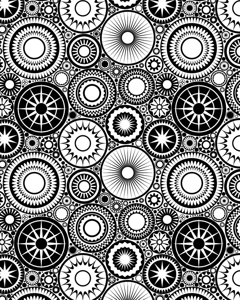 these printable mandala and abstract coloring pages relieve stress and help you meditate - Colouring In Patterns