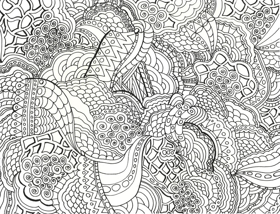 these printable mandala and abstract coloring pages relieve stress and help you meditate higher perspective - Detailed Coloring Books