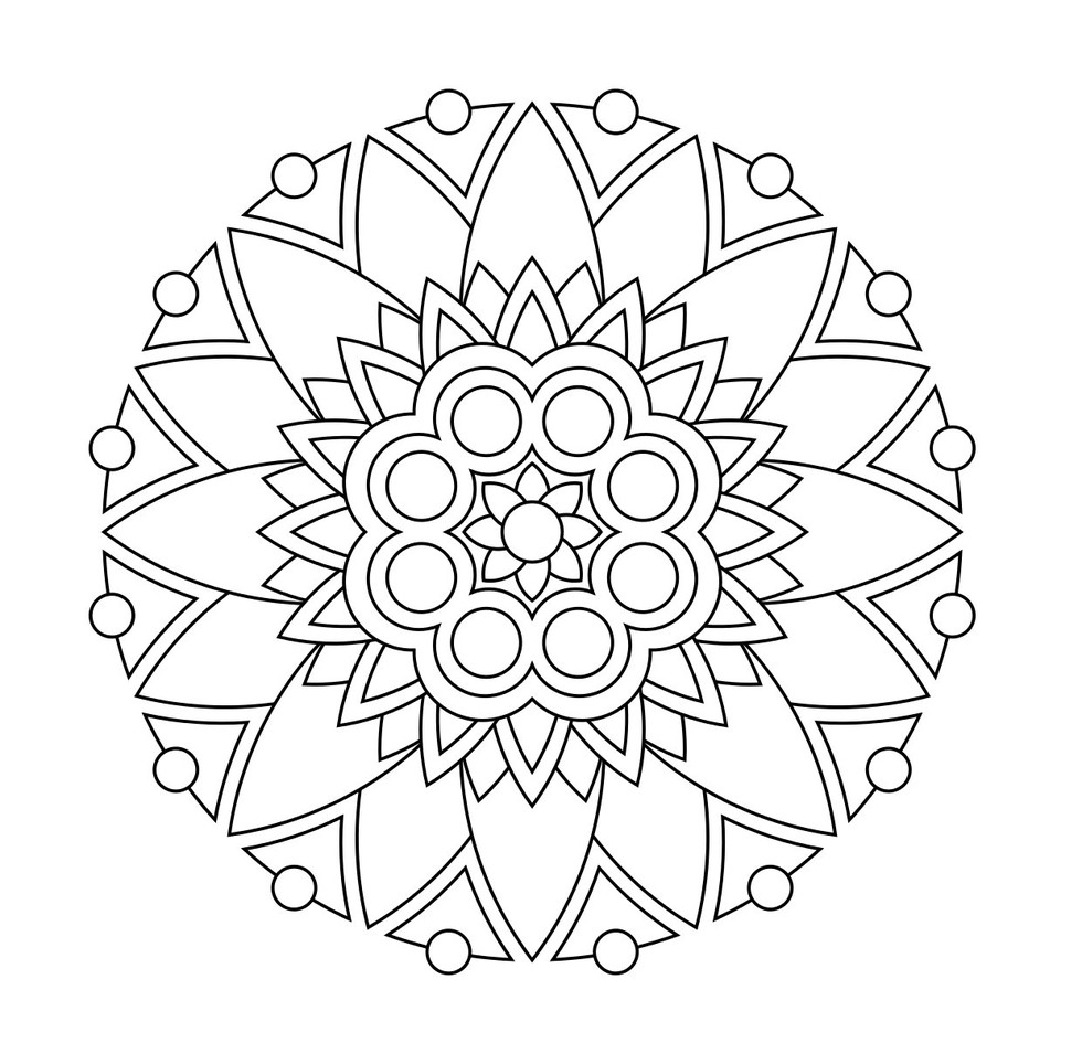 These Printable Mandala And Abstract Coloring Pages Relieve Stress And Help You Meditate ...