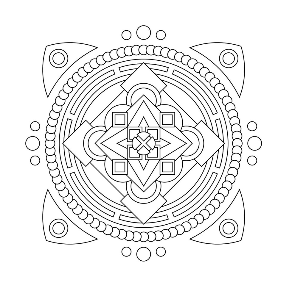 these printable mandala and abstract coloring pages relieve stress and help you meditate