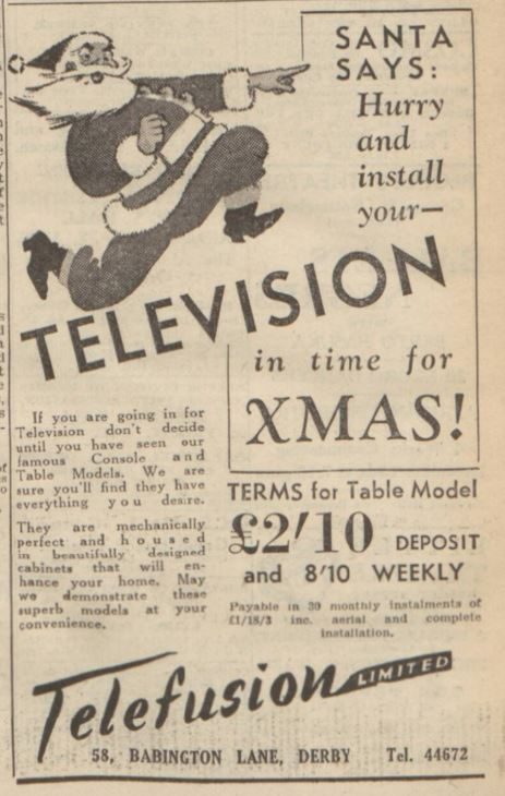 "Santa says... ""Hurry and install your television!"""