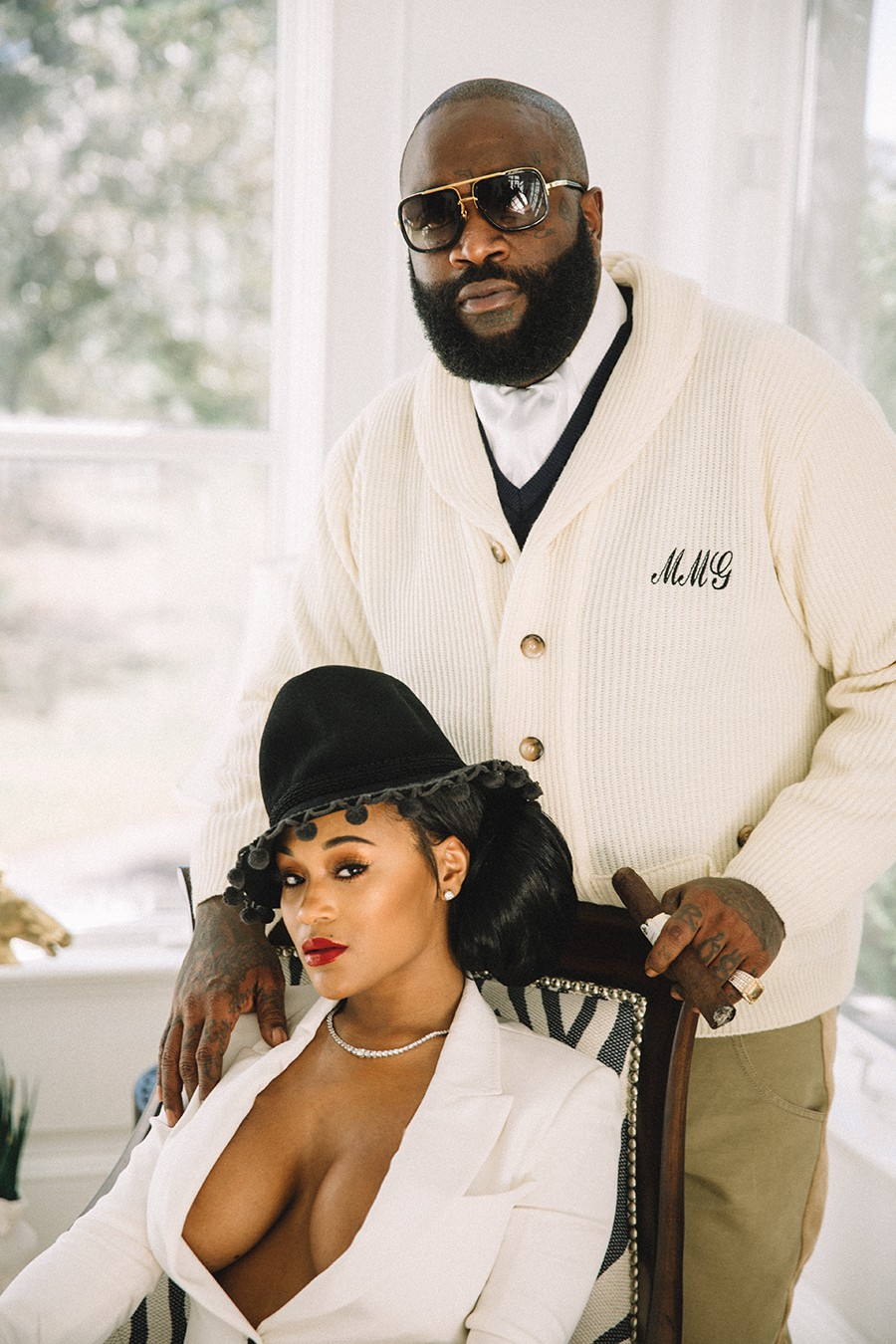 Rick Ross And Lira Mercer Channel Their Inner Lord And