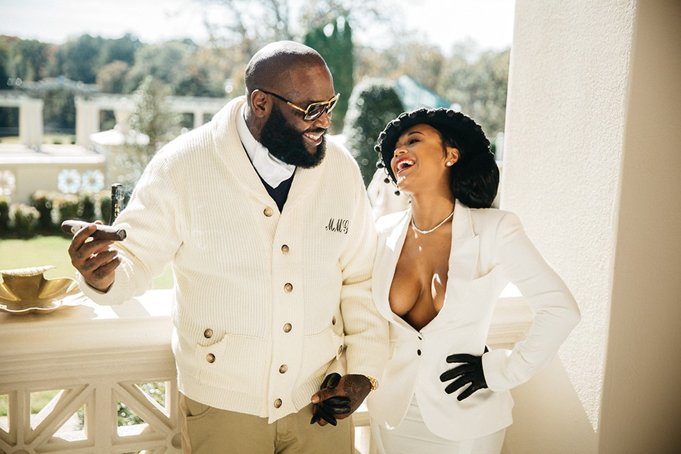 Delightful In A Regal Photo Shoot On Rick Rossu0027 Atlanta Area Estate, The Rapper And  His Fiancée Lira Mercer Give New Meaning To Southern Comfort.