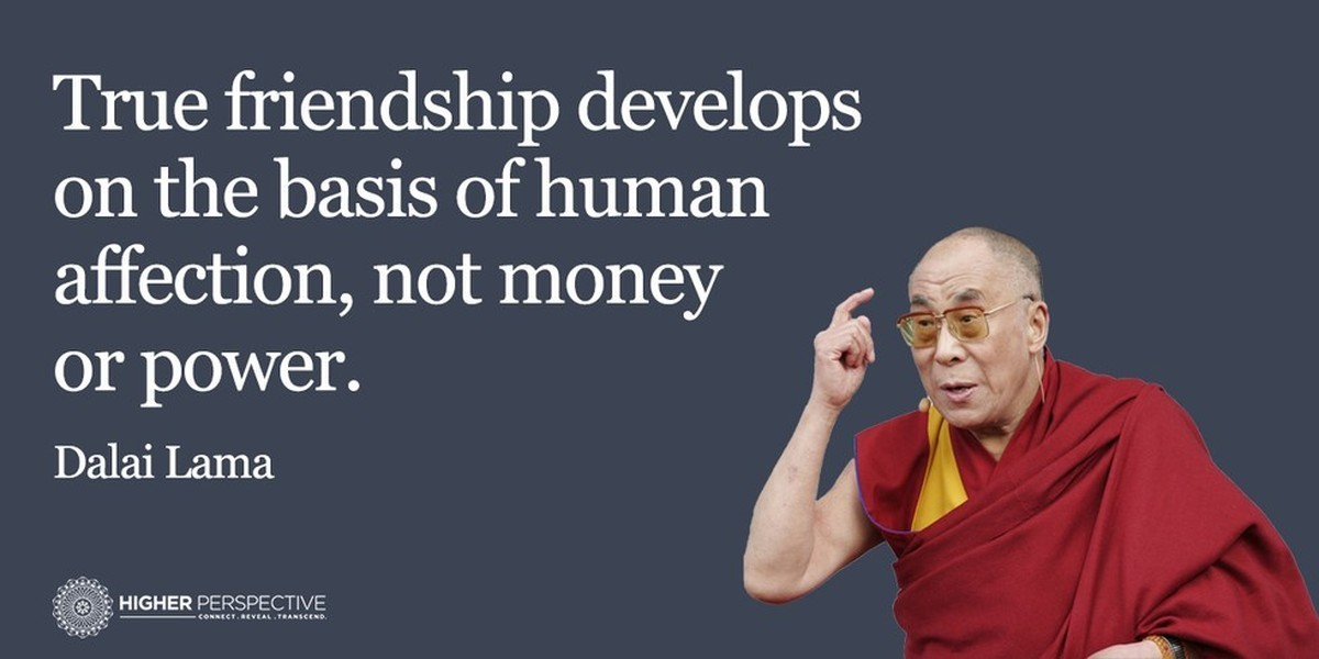 Image result for dalai lama quotes on friendship