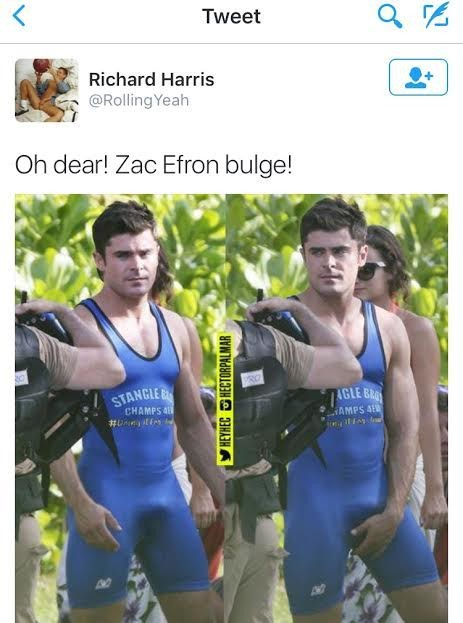 Amor. Nina. zac efron bulges would
