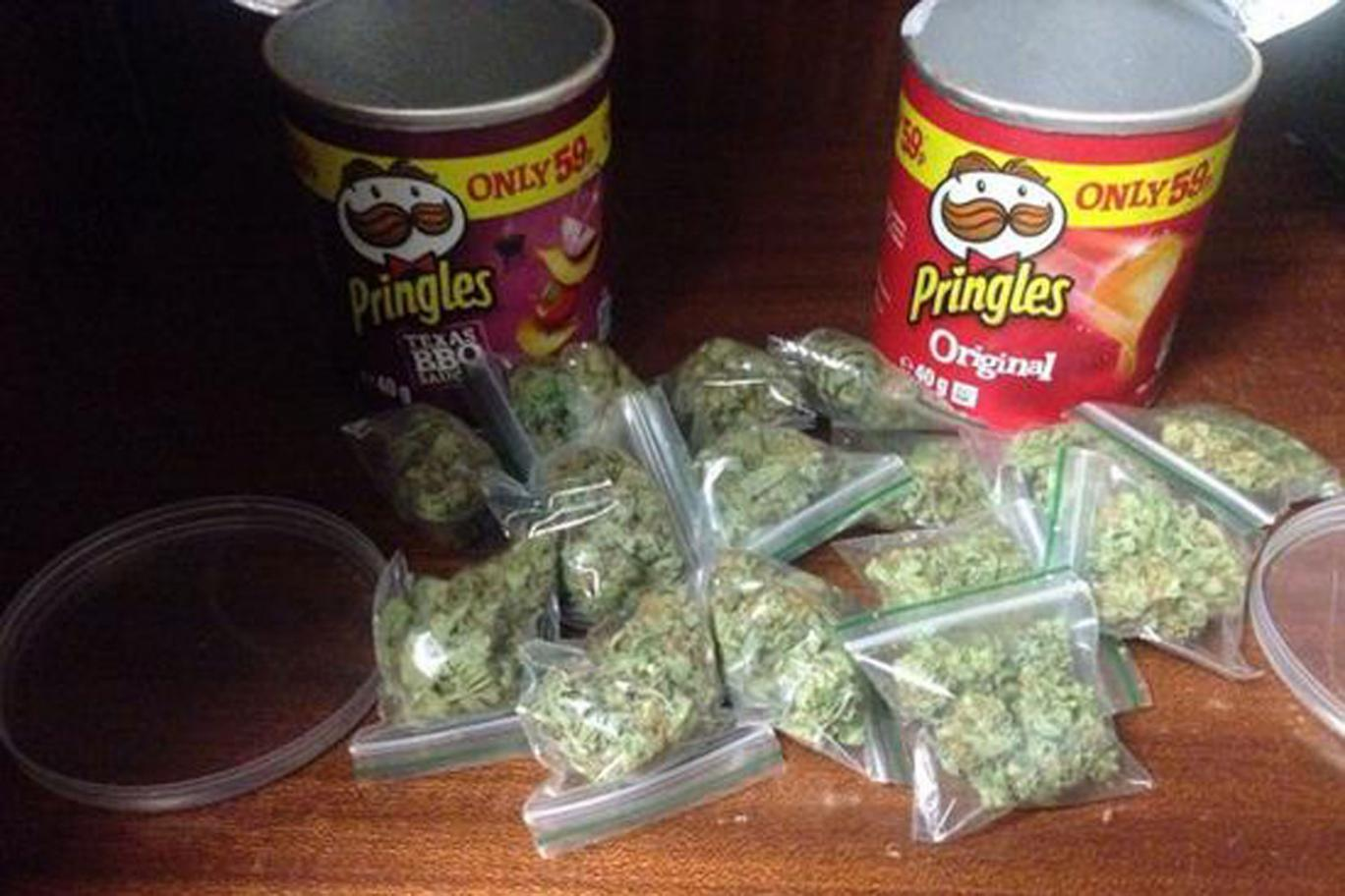 15 Bags Of Weed Found Stuffed Inside Pringles Cans On A Playground
