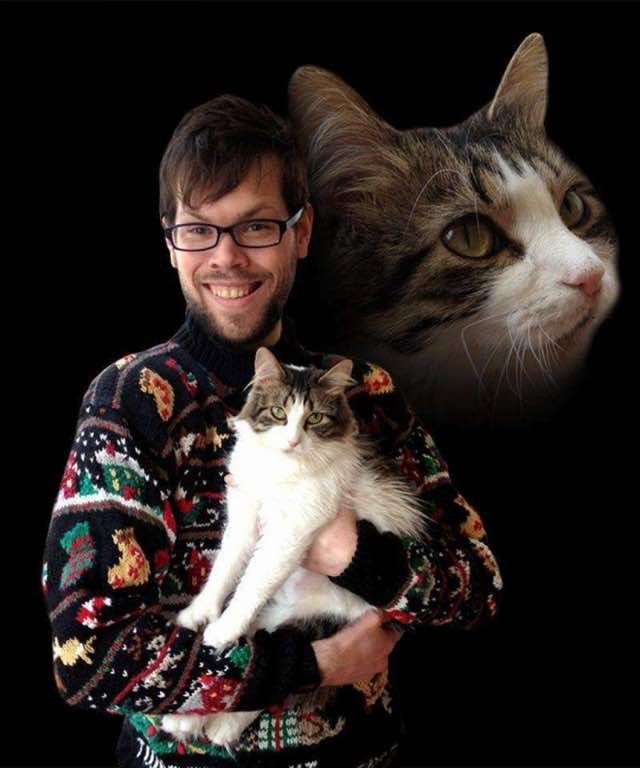 These Guys Find the Purrfect Idea for Christmas Cards (ten photos ...