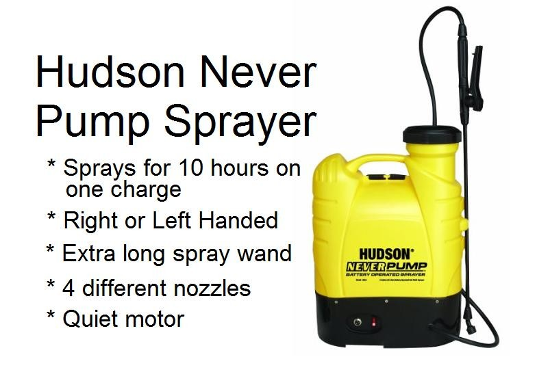 Hudson Never Pump Bak Pack sprayer review