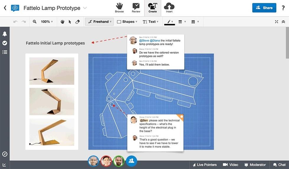Capture d'ecran de l'outil ConceptBoard