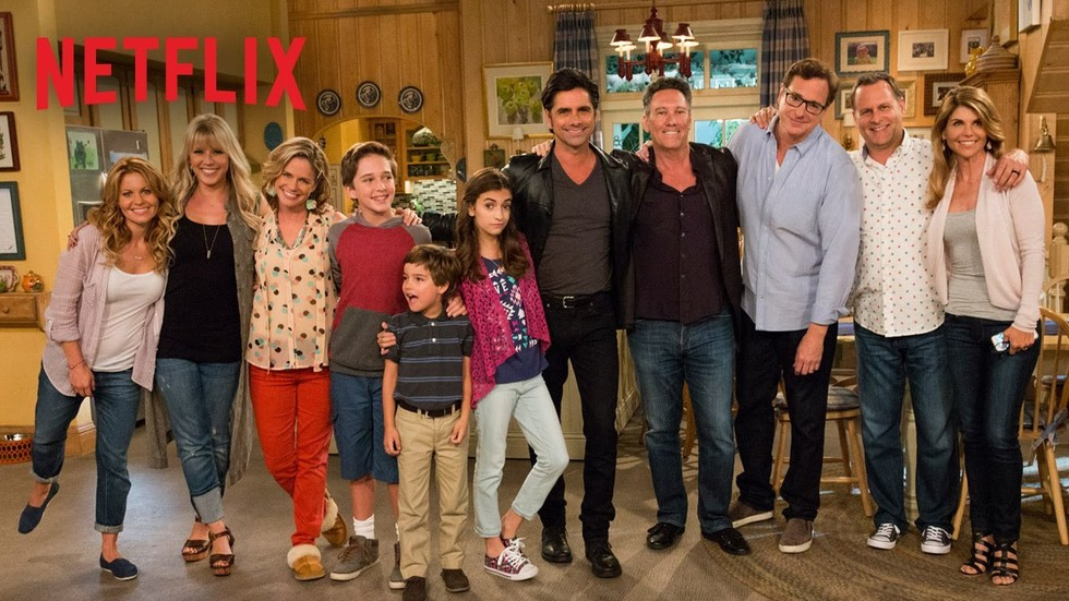 both horrible and fun the reviews are mostly bad fuller house is just strange a pile of spray can whipped cream in the corner of your bedroom whose